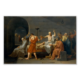 The Death of Socrates - Jacques-Louis David Poster