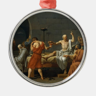 The Death of Socrates Metal Ornament