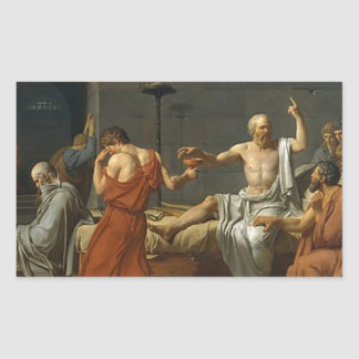 The Death of Socrates Rectangular Sticker