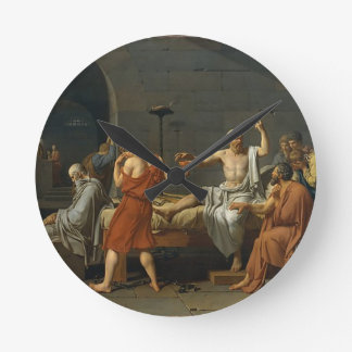 The Death of Socrates Round Clock