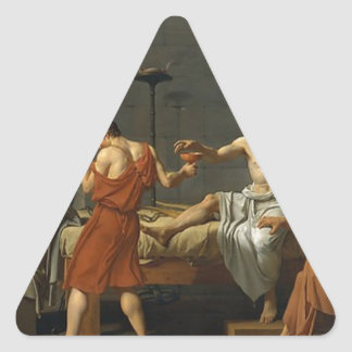 The Death of Socrates Triangle Sticker