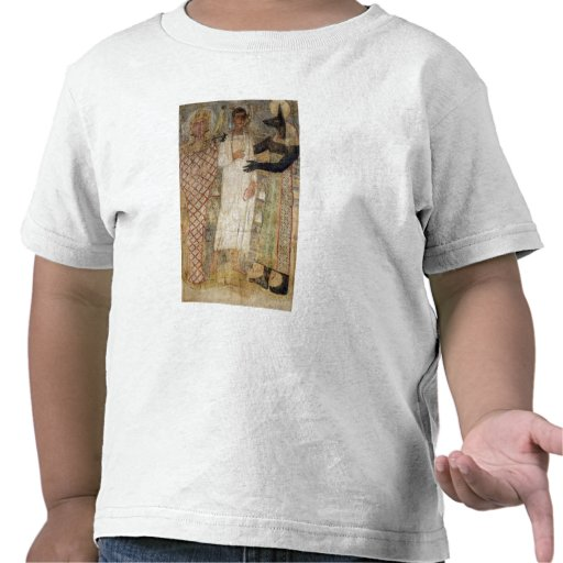 The deceased and his mummy protected by Anubis Shirt