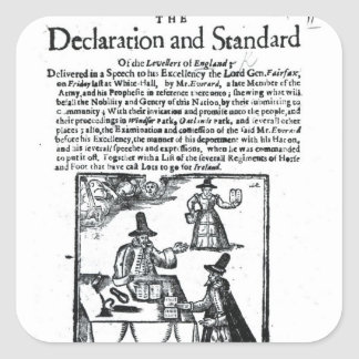 The Declaration and Standard of the Levellers Square Sticker