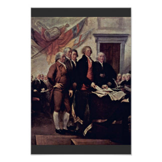 The Declaration Of Independence Detail By Trumbull Posters
