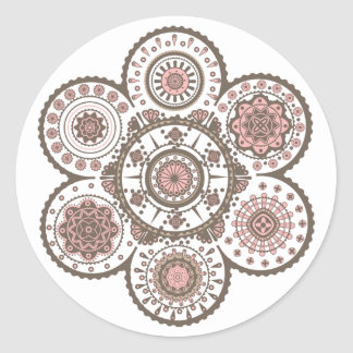 The decorative abstract cycle ornament magnet desi stickers