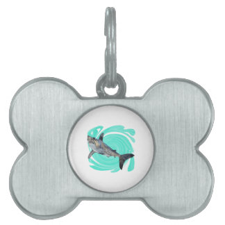 The Deep Blue Pet ID Tag