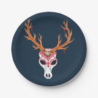The Deer Head Skull 7 Inch Paper Plate
