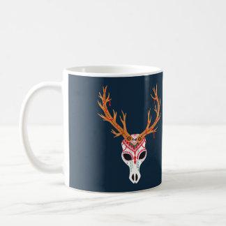 The Deer Head Skull Basic White Mug