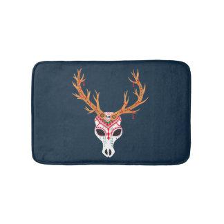 The Deer Head Skull Bath Mats