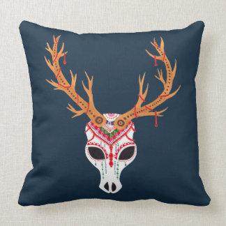The Deer Head Skull Cushion