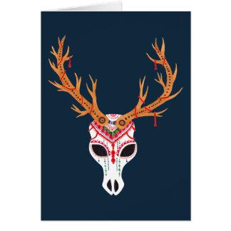 The Deer Head Skull Greeting Card
