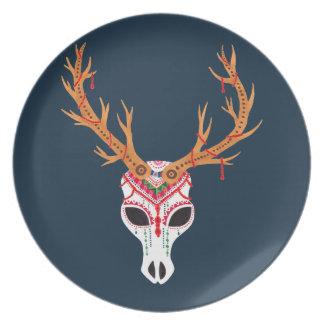 The Deer Head Skull Plate