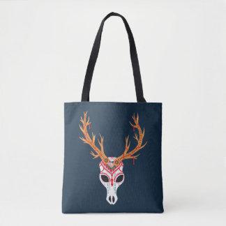 The Deer Head Skull Tote Bag