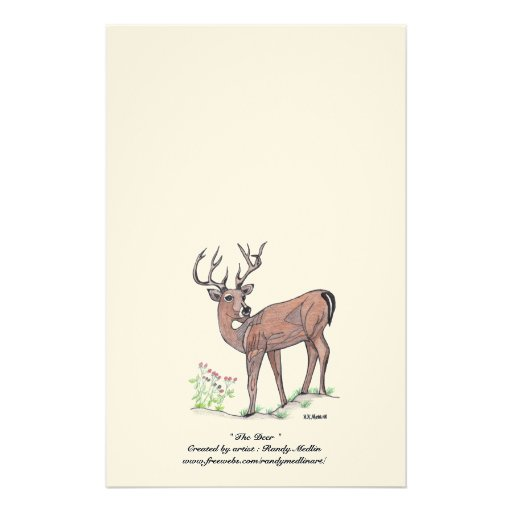 """"""" The Deer """" Stationery"""