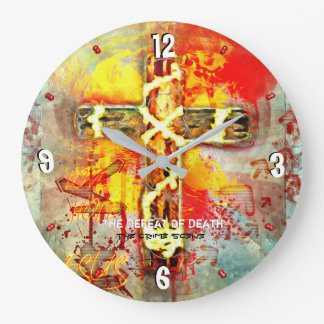The Defeat Of Death - The Crime Scene - 93 Large Clock
