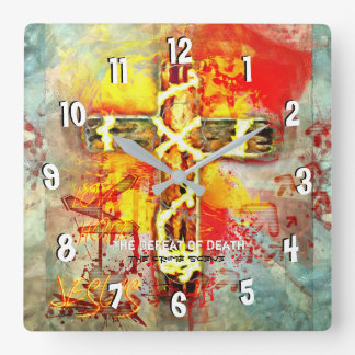 The Defeat Of Death - The Crime Scene - Sacrilege Square Wall Clock