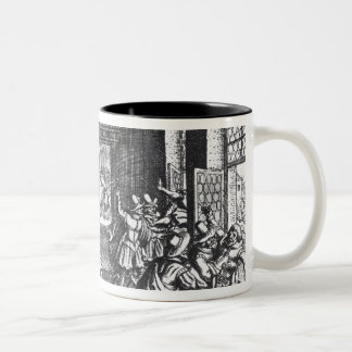 The Defenestration of Prague in 1618 Two-Tone Coffee Mug