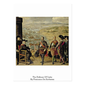The Defense Of Cadiz By Francisco De Zurbaran Postcard