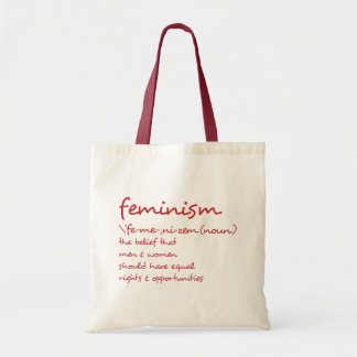 The Definition Of Feminism Tote Bag