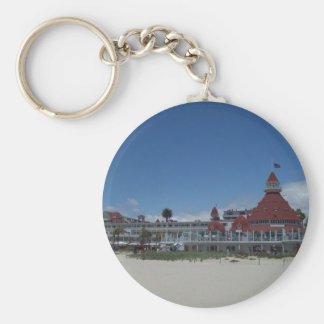 The Del Coronado Hotel Basic Round Button Key Ring