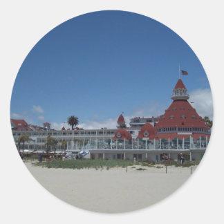 The Del Coronado Hotel Classic Round Sticker
