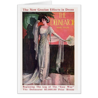 The Delineator 1908 Greeting Card