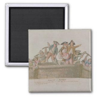 The Demolition of the Bastille, July 1789 Refrigerator Magnets