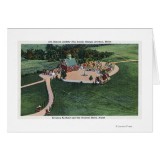 The Den Danske Landsby (Danish Village) Card