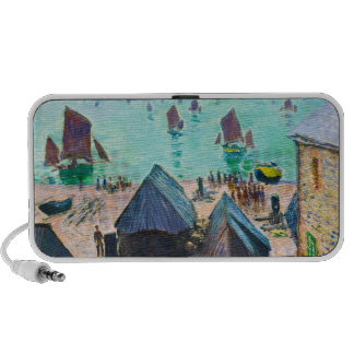 The Departure of the Boats Etretat Claude Monet iPhone Speaker