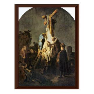 The Deposition. By Rembrandt Van Rijn Postcard