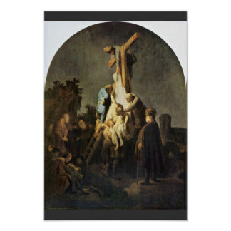 The Deposition. By Rembrandt Van Rijn Poster