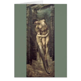 """The Depths of the Sea"", by Edward Burne-Jones Greeting Card"