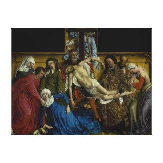 The Descent from the Cross Rogier van der Weyden Gallery Wrap Canvas