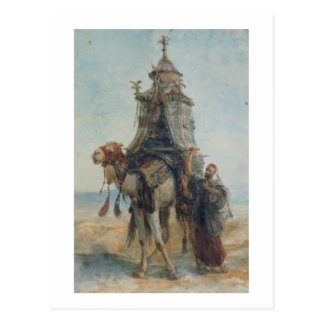 The Desert Ride, 1839 (w/c on paper) Postcard
