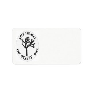 The Desert Way Customizable Address Labels