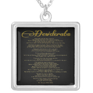 "The Desiderata ""Desired Things"" Silver Plated Necklace"