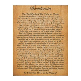 The Desiderata Poem on Wood Plank Wood Print