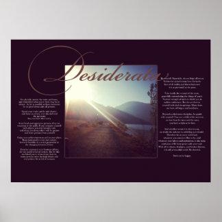 The Desiderata Poster