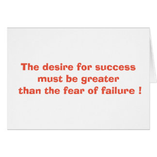 The desire for success card