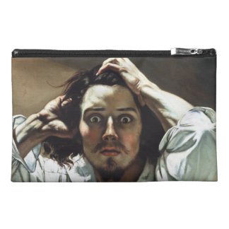 The Desperate Man by Gustave Courbet Travel Accessory Bags