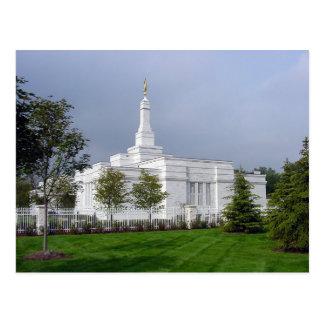 The Detroit Michigan LDS Temple Postcard