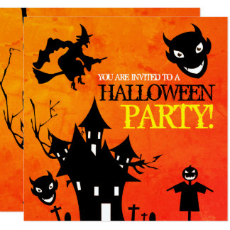 The Devil Haunted House Halloween Invitation