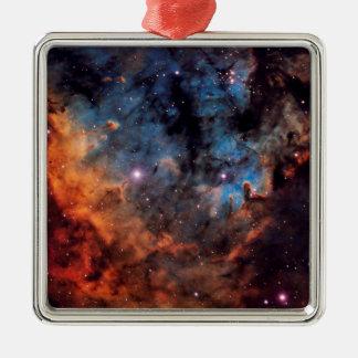 The Devil Nebula Silver-Colored Square Decoration