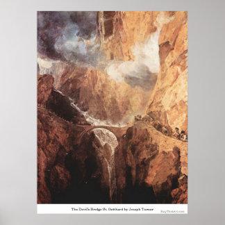 The Devil s Bridge St Gotthard by Joseph Turner Posters