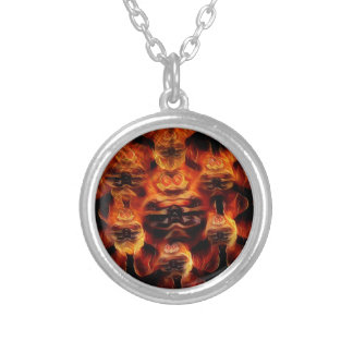 The Devil Silver Plated Necklace