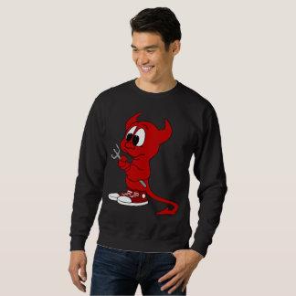 The devil's sweatshirt black
