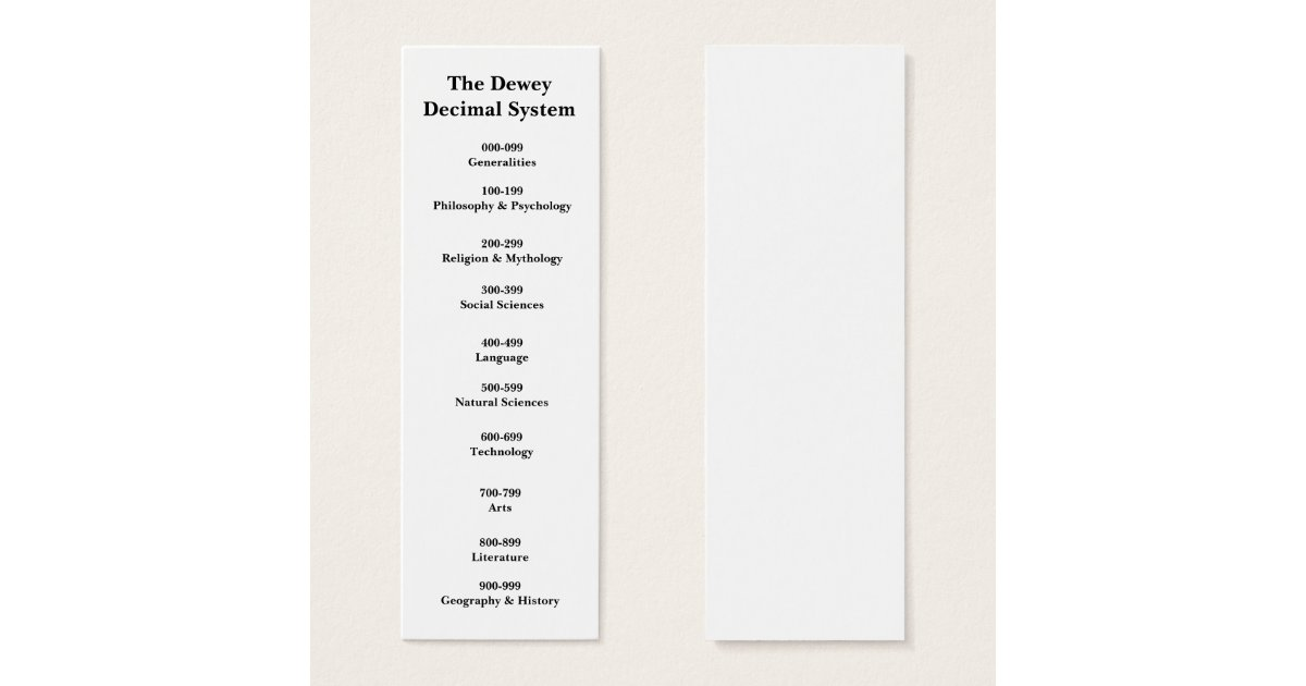 This is a graphic of Sizzling Dewey Decimal System Printable Bookmarks