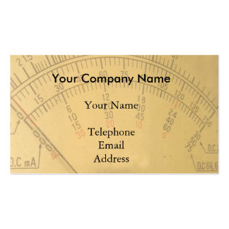 The Dial of a Vintage Amp Meter Business Card Templates