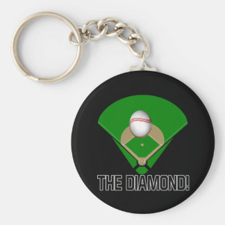 The Diamond Basic Round Button Key Ring