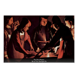 The Dice Players By La Tour Georges De Poster